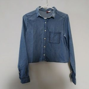 Divided by H&M cropped long sleeve shirt